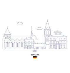 essen city skyline vector image