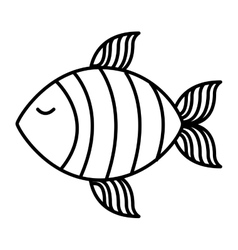 Fish food meat icon vector