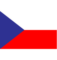 flag czech republic in flat design flag czech vector image