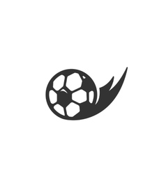 Football Icon logo on white background vector image