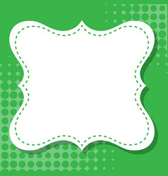 Frame template design with green dots vector