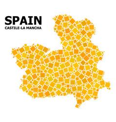 Golden rotated square pattern map castile-la vector