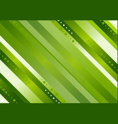 green stripes abstract tech background vector image