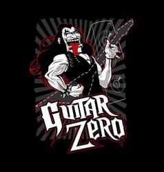 guitar zero vector image