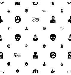 Head icons pattern seamless white background vector