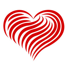 heart abstract line icon simple style vector image