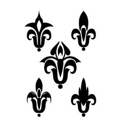 Heraldic lily vector image vector image