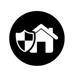 house insurance isolated icon vector image