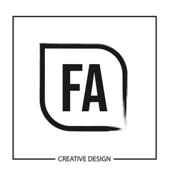 Initial letter fa logo template design vector
