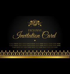 invitation card design in luxury style vector image