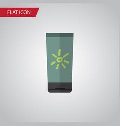 isolated sun cream flat icon moisturizer vector image
