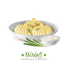 khinkali gourmet food composition vector image
