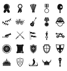 Liberality icons set simple style vector