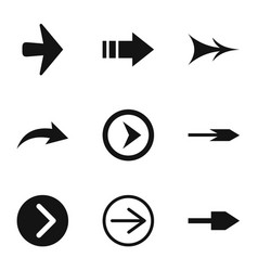 link icons set simple style vector image