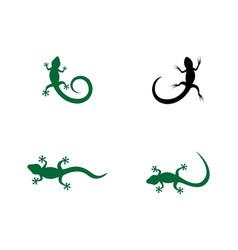 Lizard logo template vector