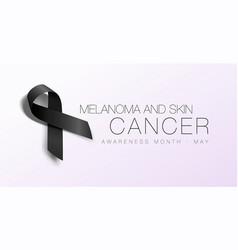 melanoma and skin cancer awareness calligraphy vector image