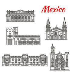 mexican travel landmark of guadalajara linear icon vector image