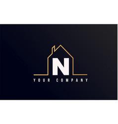 n house alphabet letter icon logo design house vector image