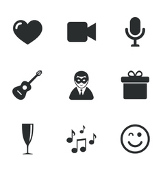 Party celebration birthday icons Carnival vector