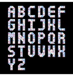 Pastel triangle pattern alphabet vector