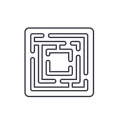 path in the maze line icon concept path in the vector image