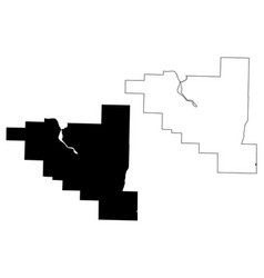 Pulaski county arkansas us county united states vector