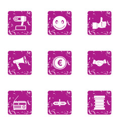 Question icons set grunge style vector