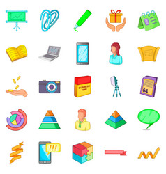 quiet place icons set cartoon style vector image