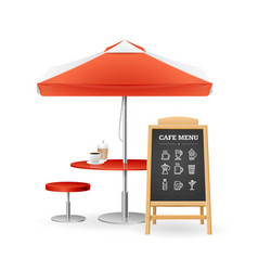 realistic detailed 3d caffee concept set vector image