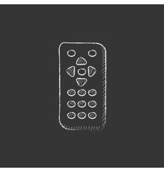 Remote control Drawn in chalk icon vector image