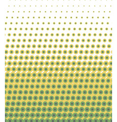 Seamless lime green polka dots pattern texture vector
