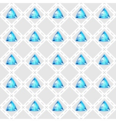 Seamless pattern with blue gemstones vector