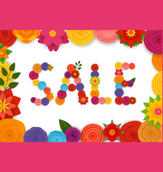 season sale banner template vector image
