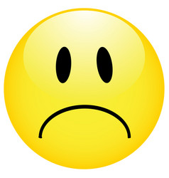 smiley emoticons icon negative smile icon in vector image