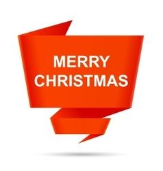 speech bubble merry christmas design element sign vector image