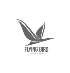 Stylized heron crane stork silhouette logo vector