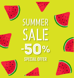 summer sale poster special offer vector image