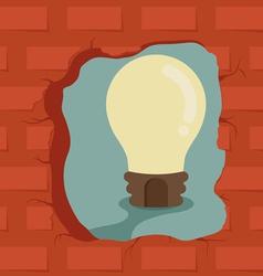 Think outside box get idea vector