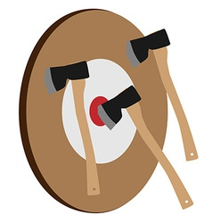 Throwing axe target vector image