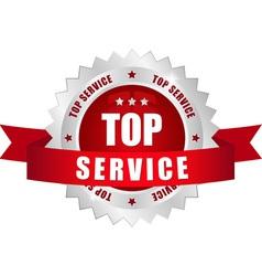top service button vector image
