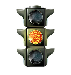 traffic lights 10eps green light vector image