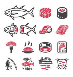 tuna icon vector image