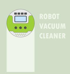 vacuum cleaner robot vector image