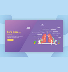 Various lung diseasedoctor examine or explore the vector