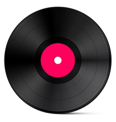 Vinyl Record Isolated on White Background vector image