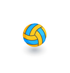 volleyball ball isometric flat icon 3d vector image