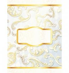 beautiful vertical rococo wedding label vector image vector image