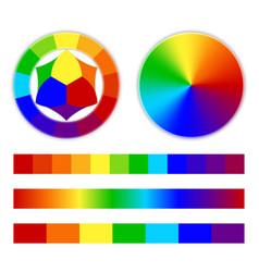 bright rainbow gradient vector image