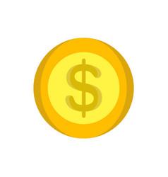coins money gold icon design cartoon cash circle vector image vector image