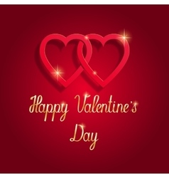 Happy Valentine s day beautiful greeting card vector image
